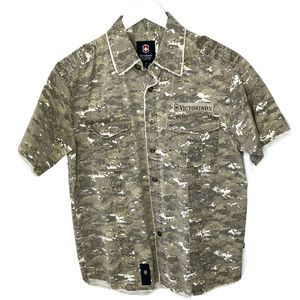 Victorinox Swiss Army Camouflage Button Down Shirt